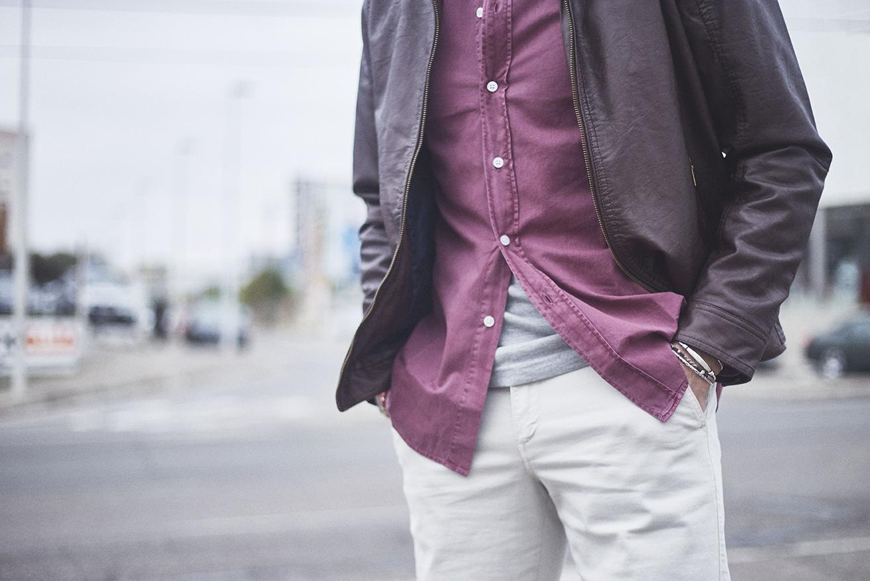 camisa denim de colores