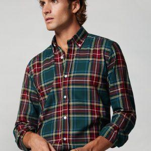 camisa-sport-tartan-verde-medio